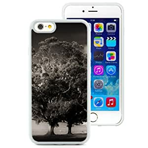 Beautiful Unique Designed iPhone 6 4.7 Inch TPU Phone Case With Spooky Gray Trees_White Phone Case