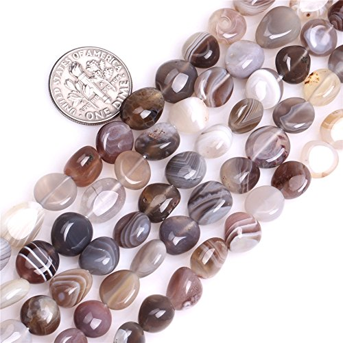 Botswana Agate Beads for Jewelry Making Natural Gemstone Semi Precious 9x12mm Freeform Potato Shape 15