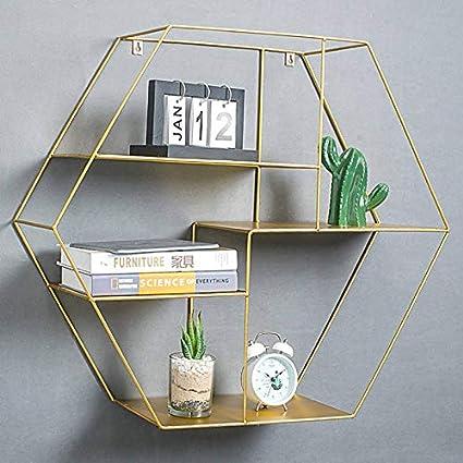Ablerhome - Estantería de Pared con Forma Hexagonal y Marco ...