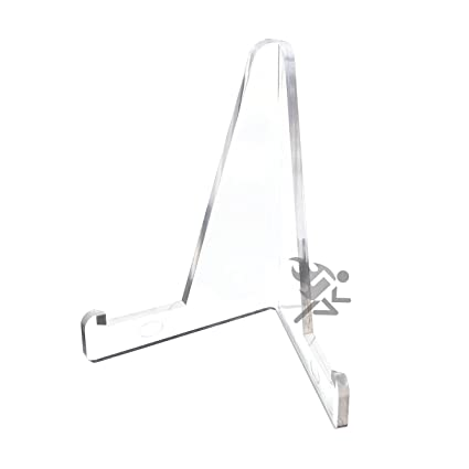 small display stand clear acrylic easel holder for police fire