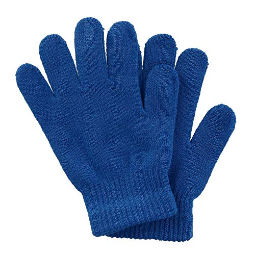 Grand Sierra Kids' Solid Stretch Winter Glove, Blue ()