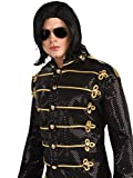 Michael Jackson Straight Wig with Glasses Costume Accessory Set