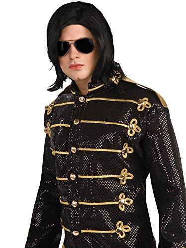 Michael Jackson Long Straight Wig and Glasses]()
