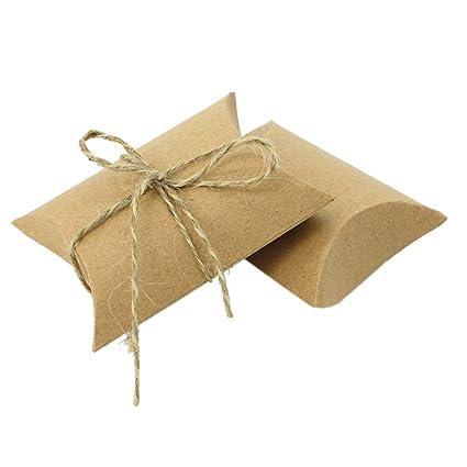 Amazon.com: Ancdream - 50 cajas de regalo de papel kraft con ...