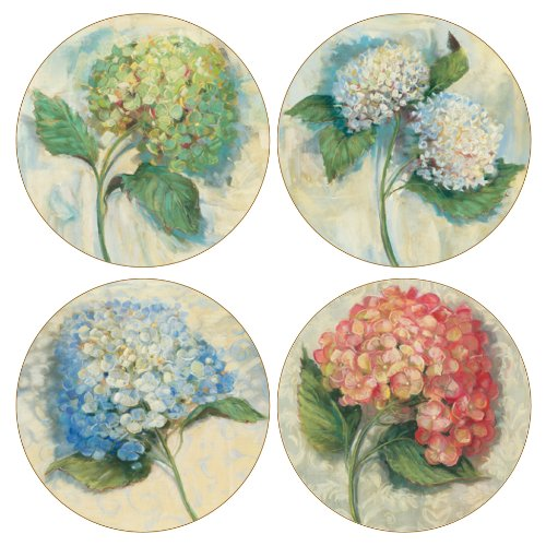- CoasterStone AS2020 Hydrangeas Absorbent Coasters, 4-1/4-Inch, Set of 4