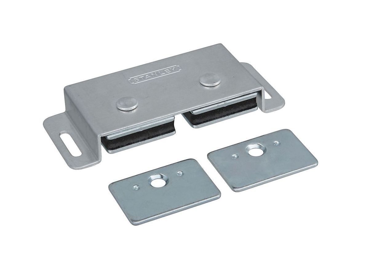 Stanley Hardware S810-190 20 Pack SP45 Double Magnetic Cabinet Catch, Clear Coated Aluminum