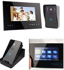Agente007 - Videoportero Interfono Inalambrico 2.4Ghz Transmision De 250M Y Apertura De Puerta