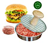 WNATN Non-Stick Burger Press Kitchen Cooking Tool Hamburger Patty Maker 304 Stainless Steel Burger Press 18/8 Steel Burger Press