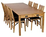expandable dining table Stakmore Traditional Expanding Table Finish, Oak