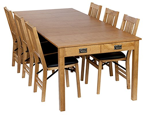 Stakmore Traditional Expanding Table Finish, Oak Mission Extension Dining Table