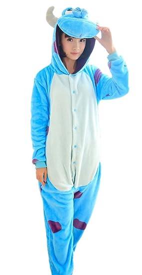Unisexo Kigurumi Pijamas Para Adultos Franela Disfraces Animales Vestidos De Cosplay Halloween Pyjamas Animales Por Invierno