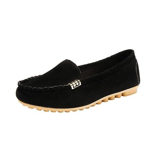 Logobeing Zapatos de Mujer Cómodos - Mocasines para Damas Zapatos de Playa Casual Sin Cordones Deslizamiento Suave Zapatos Planos Oficina y Carrera: ...