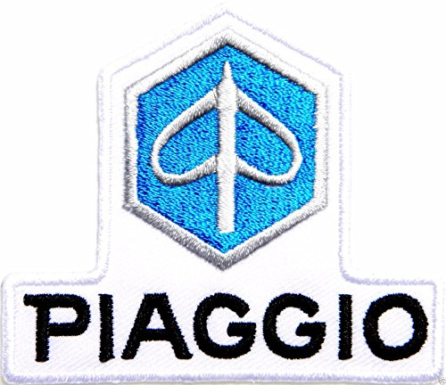 PIAGGIO Scooter Logo Sign Biker Racing Patch Iron on Applique Embroidered T shirt Costume BY SURAPAN