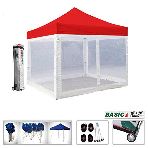 Basic 10x10 Ez Pop up Canopy Screen Houses Shelter Instan...