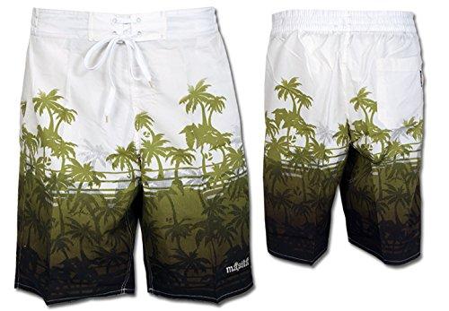 1712f3bca01172 Masita Herren Badeshorts Badehose 223118-49 weiss mit grünem Palmenmuster:  Amazon.de: Sport & Freizeit
