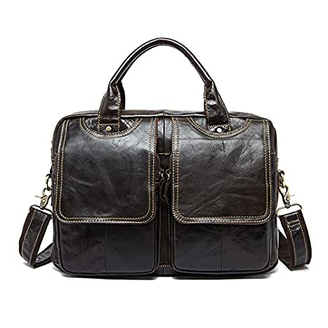 Travel Tote Cross Mens Briefcase Mens Messenger Bag Shoulder Bag Scrub Brown