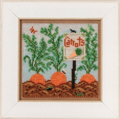 - Carrot Garden Beaded Counted Cross Stitch Kit Mill Hill 2017 Buttons Beads Spring MH141711