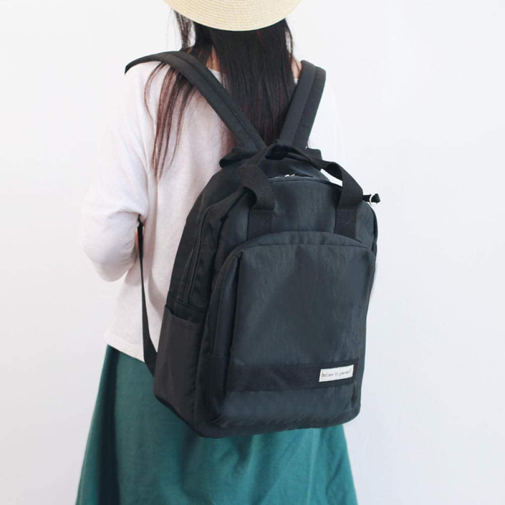 PKCABZaino, borsa per bambina antica, zaino femminile, studentessa universitaria, versione coreana, Harajuku, studentessa di scuola superiore ulzzang @ grigio chiaro Black