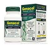 GENACOL Sleep Aid for Adults & Joint Support Supplements for men and Women | Melatonin for Insomnia + Hydrolyzed Collagen Peptides for Joint Pain Relief | Certified Non-GMO, 100% Natural | 90 Capsules