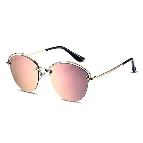 b75dff2ae3 Gafas de sol de espejo Nykkola para mujer con lentes polarizadas y monturas  de metal,