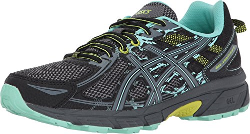 ASICS Women's Gel-Venture 6 Running-Shoes,Black/Carbon/Neon Lime,8.5 Medium US (The Best Trail Running Shoes)