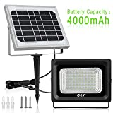 Solar LED Flood Light Outdoor 60 LED Security Flood Light Cly,IP66 Waterproof,300 Lumens Floodlights,Auto-Induction Solar Power Light for Lawn,Yard,Garden (Cool White) For Sale