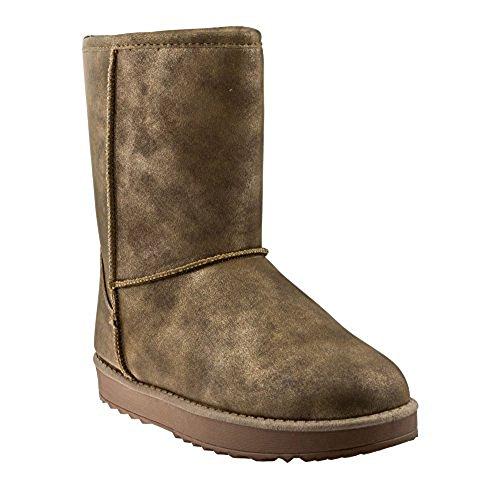 Schuhzoo - Schlupf-Stiefel Winterstiefel Boots Camel Gr. 36-41 Braun