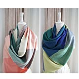 Lifemall SF Women's Winter Scarf Imitated Cashmere Cappa Plaid Long Pashmina Scarves Wrap