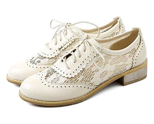 XIE Zapatos Cerrados del Dedo del pie Hueco Resistente al Agua Sandalias de bajo Tacón con Zapatos Bajos, 38 METERSWHITE-38