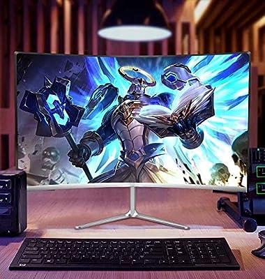 Monitor de PC, PC Monitor de pantalla de 24 pulgadas de grande superficie curva inteligente de
