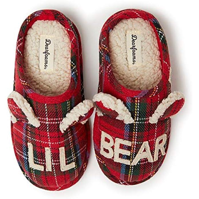 Dearfoams Unisex-Child Lil Bear Slipper