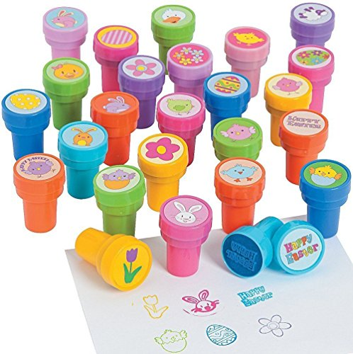 Stamper Easter - Fun Express - Easter Stamper Assortment (50pc) for Easter - Stationery - Stamps - Stamps - Self Inking - Easter - 50 Pieces
