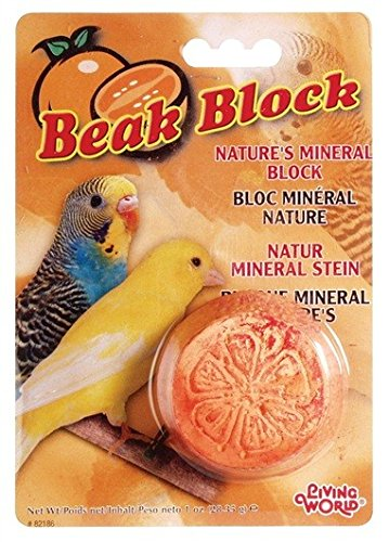 Living World Mineral Block, Orange (for Parakeets), 1 Ounce ()