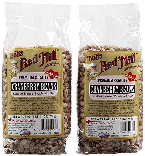 - Bob's Red Mill Cranberry Beans, 27 oz, 2 pk