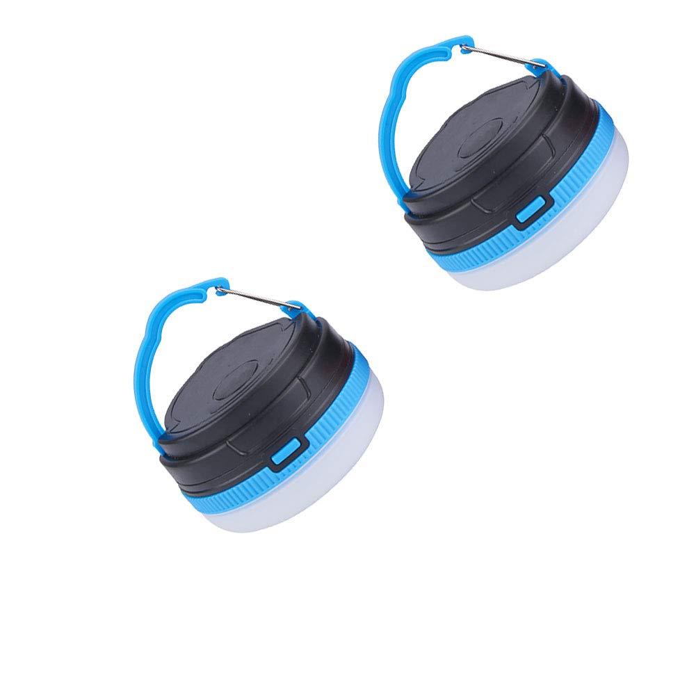 Mat/ériel de Camping Portable USB Rechargeable Lanterne Solaire 3 Modes Pliable LED Lanterne de Camping Gyrophare LED Ultra Tente Lumi/ère vive Accessoires de Camping