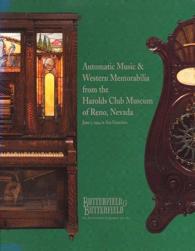 Unconscious MUSIC & WESTERN MEMORABILIA FROM THE HAROLDS CLUB MUSEUM OF RENO, NEVADA