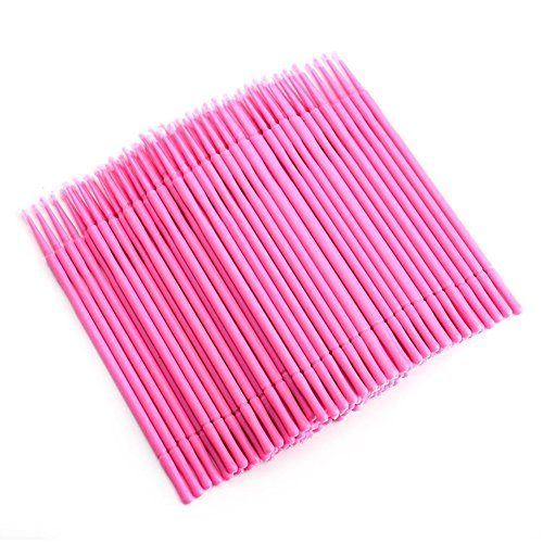 200 Pcs Microblading Micro Swab Lint Tattoo Permanent Brushes, Pink, by ()