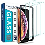 Tech Armor Apple iPhone Xs MAX Ballistic Glass Screen Protector [3-Pack] Case-Friendly Tempered Glass, 3D Touch Accurate Designed for New 2018 Apple iPhone Xs MAX