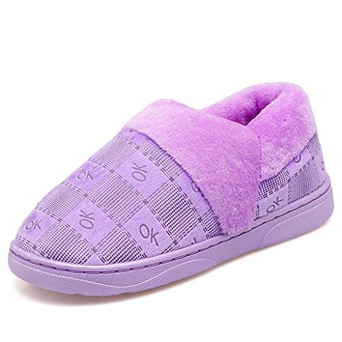 Pattern Chaude La couleur 3 Coton À De Maison Femme Chaussures D'intérieur Antidérapantes Fin 39 Taille Hiver Chaussons Pantoufles 40 Dww Des Eur q8CwnZwva