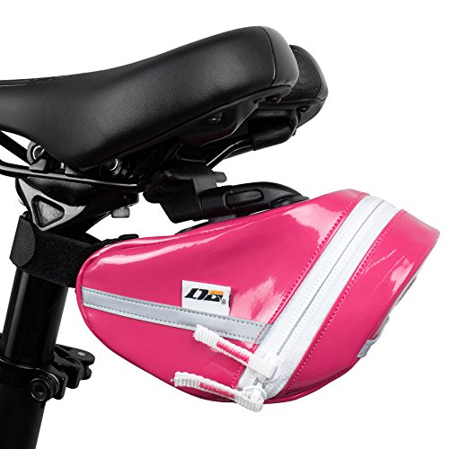 LTG Fahrra-Satteltasche, Fahrradtasche Handytashce, Cycling Outdoor Bicycle, Seat Pack Pouch, Saddle Bag (Rosa)