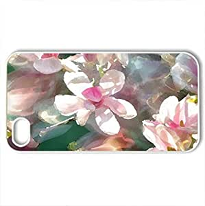 Spring - Case Cover for iPhone 4 and 4s (Watercolor style, White)