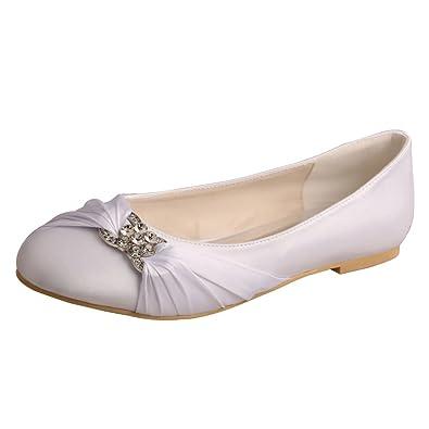 Amazon.com   Wedopus MW757 Women\'s Pleated Closed Toe Ballet Flat ...
