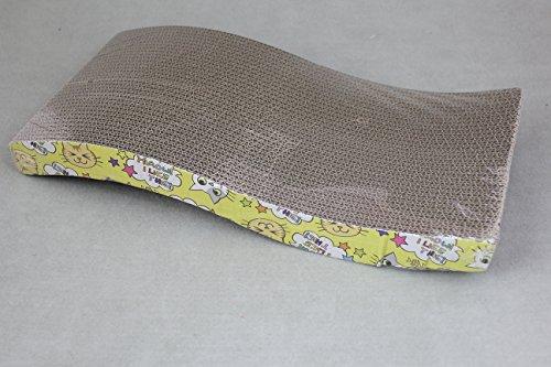 Fastpet cat scratching pad scratcher wave curved for Curved cat scratcher