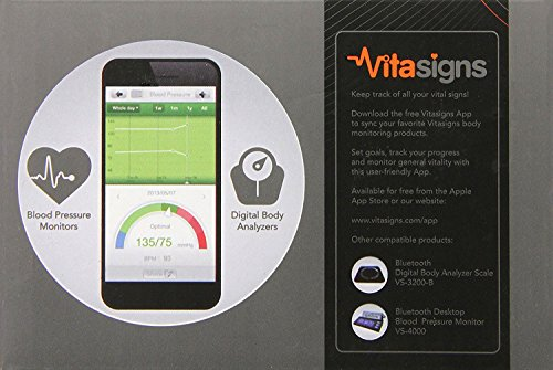 Vitasigns VS-4300-B Bluetooth Blood Monitor,