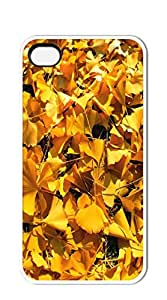 Plastic Phone Case Back Cover phone cases for iphone 4s - Withered leaves