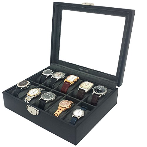 Watch Box Storage Case Leather for 10 Watches