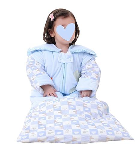 Saco De Dormir Para Bebés - Niños Estampados Niños Extraíbles De Algodón De Manga Larga Anti
