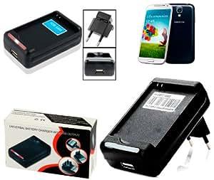 Cargador 2 En 1 USB Universal, SLOT Baterias Compatibles Samsung GALAXY S4 i9505/i9505, GALAXY S3 i9300, GALAXY GRAND DUOS i9082