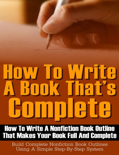 outline for writing a book