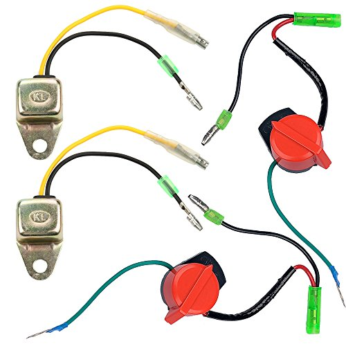 Anzac (Pack of 2 Low Oil Alert Sensor and Engine Stop Switch for Honda GX160 GX200 GX240 GX270 GX340 GX390 5.5HP 6.5HP 8HP 9HP 11HP 13HP